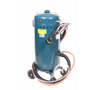 Передвижной пескоструйный аппарат инжекторного типа с электродвигателем для ваккума 220В(бак 75л,170