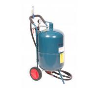 Передвижной пескоструйный аппарат напорного типа (бак 75л, 170-710л/мин, 4-8,5атм) пневмо.