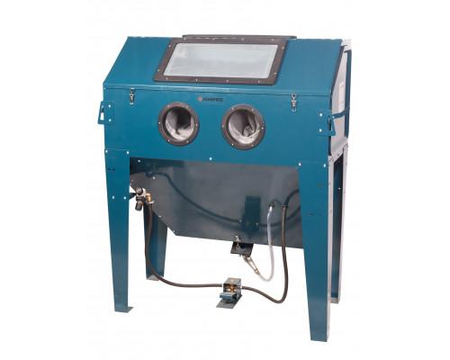 Пескоструйная камера с электродвигателем для очистки воздуха 220B(объем-420л,340л/мин, 3.4-8.5атм)