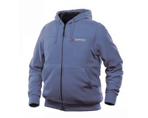 Куртка с электроподогревом водоотталкивающая(р.50-52, черная, АКБ:5V, 2A, от 10000 mAh, 3 режима наг
