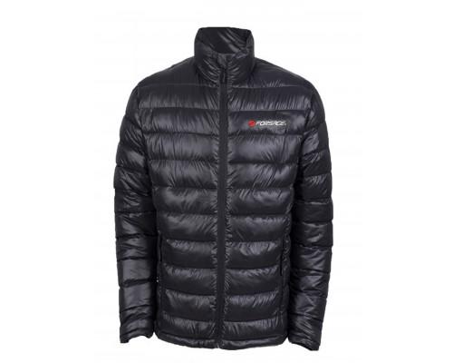 Куртка болоньевая с электроподогревом водоотталкивающая(р.46-48, черная, АКБ:5V, 2A, от 10000 mAh, 3