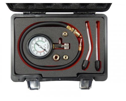 Тестер компрессии бензинового двигателя(0-20bar,удл-ль 500мм ;удл-ли прямой/изогнутый 150мм;адаптеры