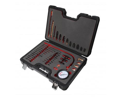 """Тестер компрессии для дизельных двигателей с комплектом адаптеров, 44пр(0-40bar), в кейсе """"Premium"""""""