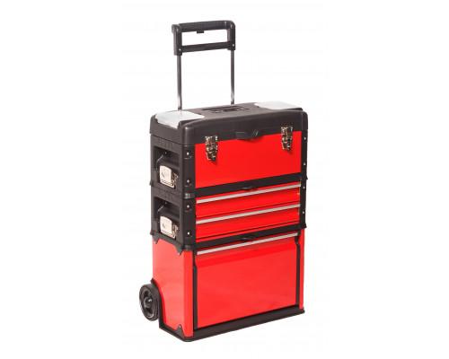 """Ящик инструментальный передвижной 3 в 1 """"дорожный кейс""""(размеры модулей-520x320x720мм,420x220x150мм,"""