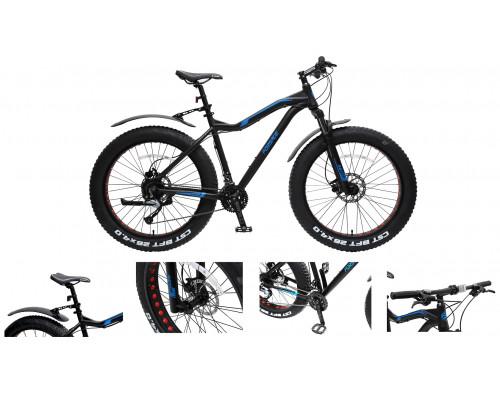 """Велосипед Фэтбайк Riot-x(рамаAl 6061;колесо26"""";пер/зад покр.4""""; 27скоростей Shimano Acera,вилка RST"""